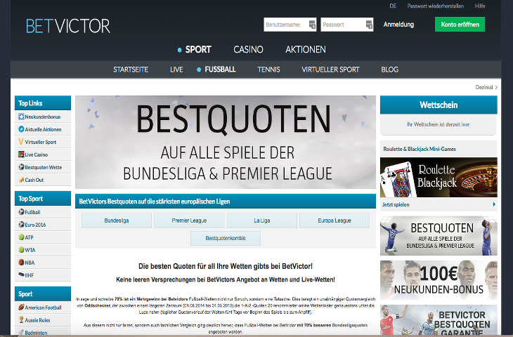 BetVictor_Bestquoten